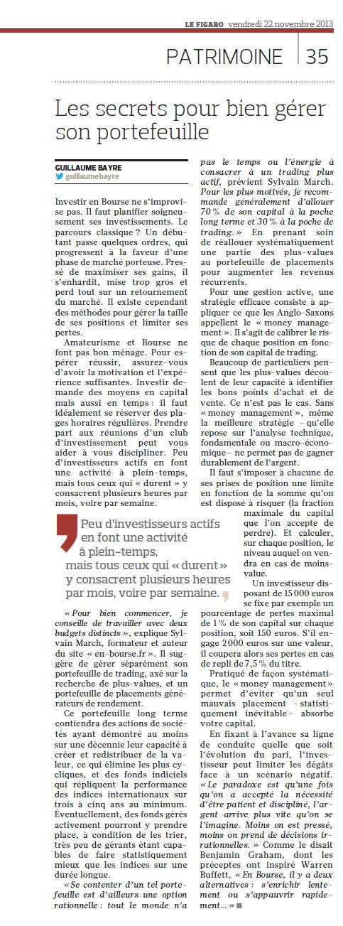 article figaro sylvain march