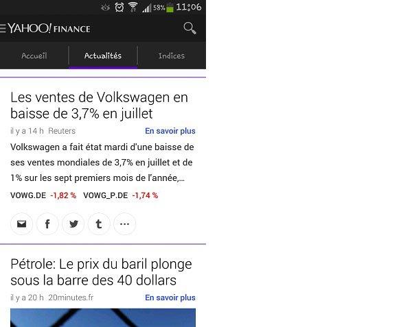 Actualités Yahoo Finances