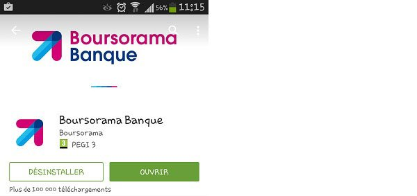 Boursorama application mobile