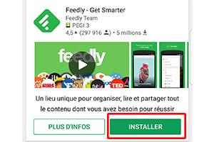 Comment utiliser Feedly sur votre smartphone :