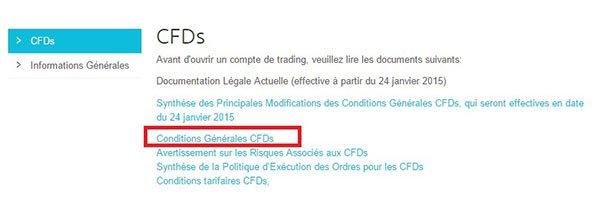 Conditions générales CFD