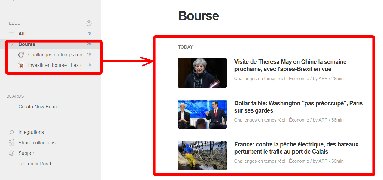 Feedly bourse