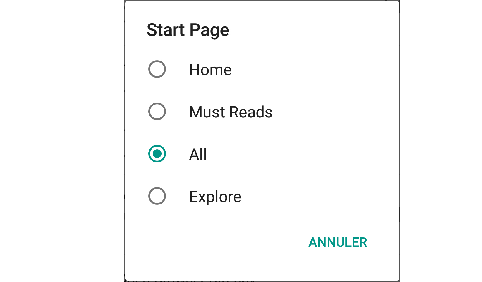 Feedly Start Page