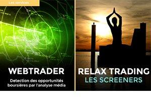 Quelle est la différence entre Webtrader et les screeners de Relax trading ?