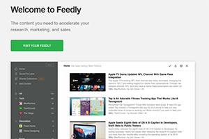 Regroupez les dernier articles de vos sites financiers préférés avec Feedly :