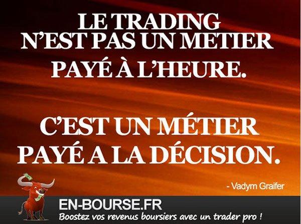 Trading payé à la décision