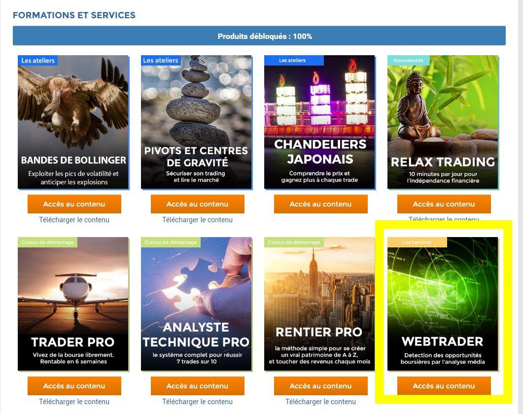 Accès Webtrader