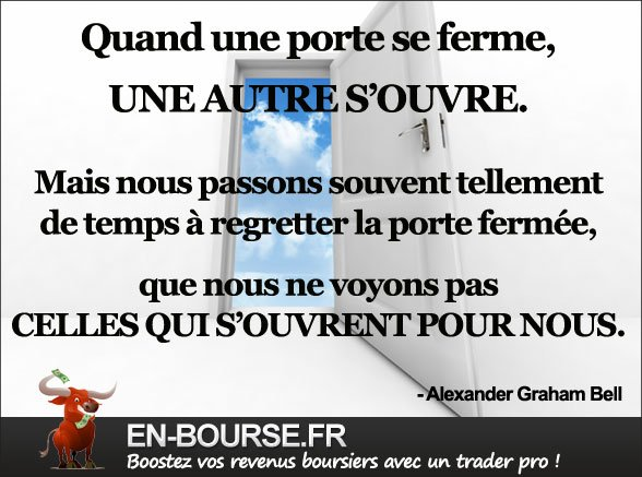Citation bourse : Quand une porte se ferme...