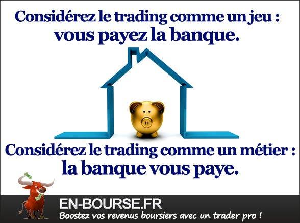 Citation : considérez le trading comme un jeu...