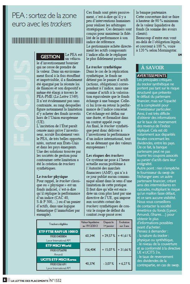 article lettre des placements figaro decembre 2013 sylvain march