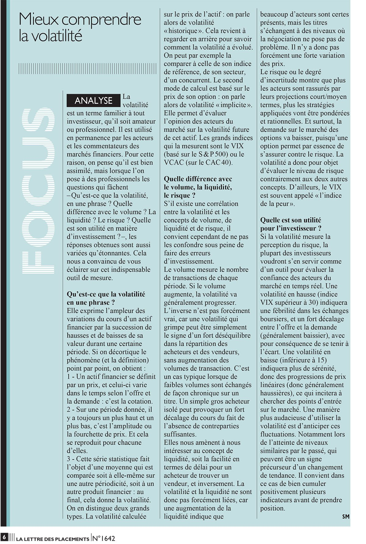 article lettre des placements figaro  sylvain march