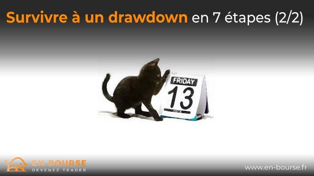 Chat noir jouant avec une page de calendrier Vendredi 13