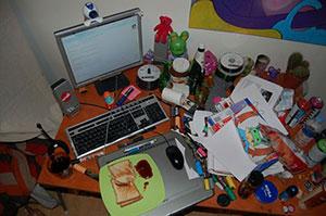 bureau dérangé