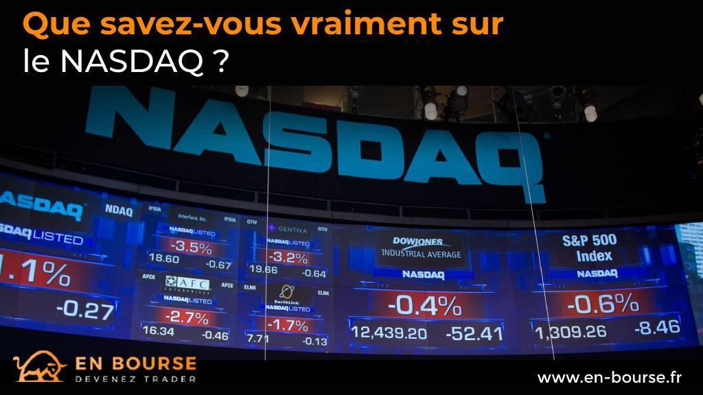 Ecran Géant et cotation graphique du NASDAQ