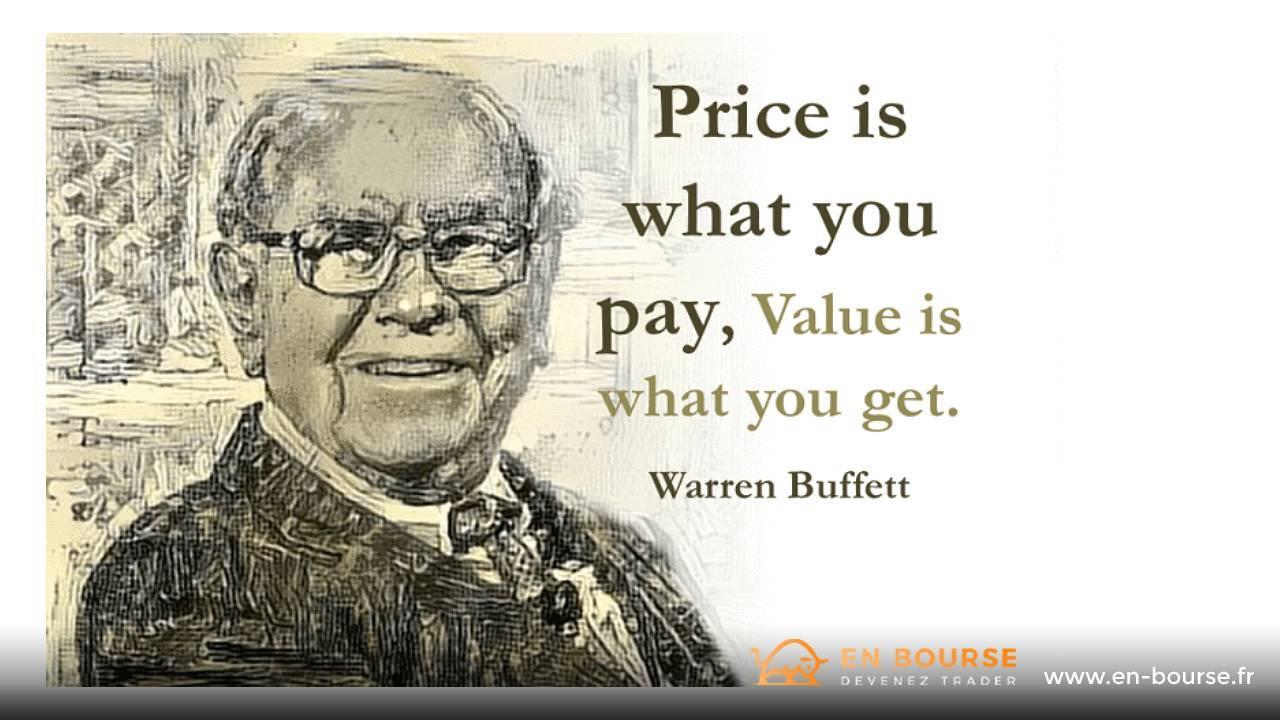"""Définition de la """"valeur"""" par Warren Buffett"""