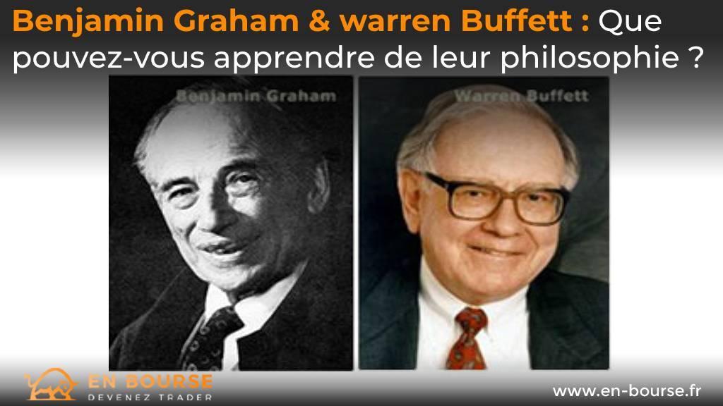 Portraits de Beanjamin Graham & Warren Buffett