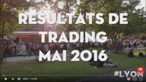 Resultats de trading mai 2016