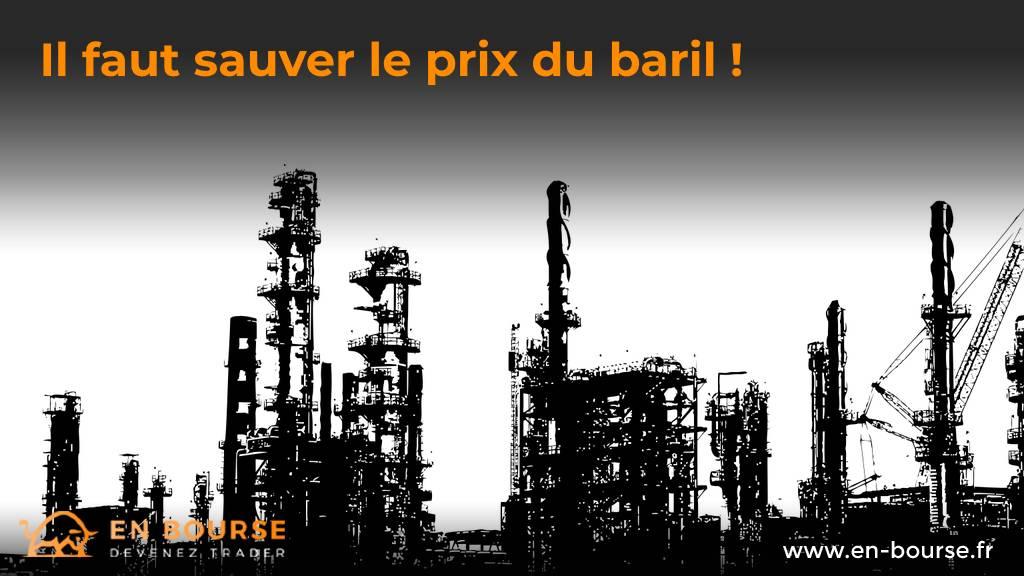 Plateforme pétrolière en filigrane