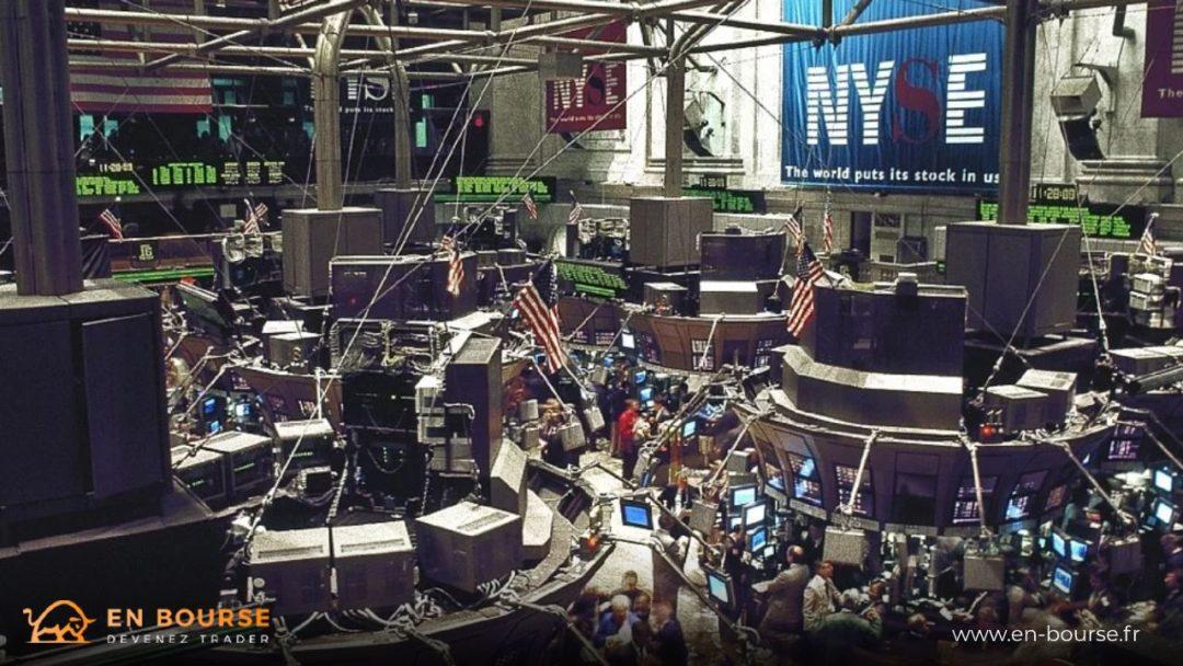 Salle des marchés de la bourse de NY