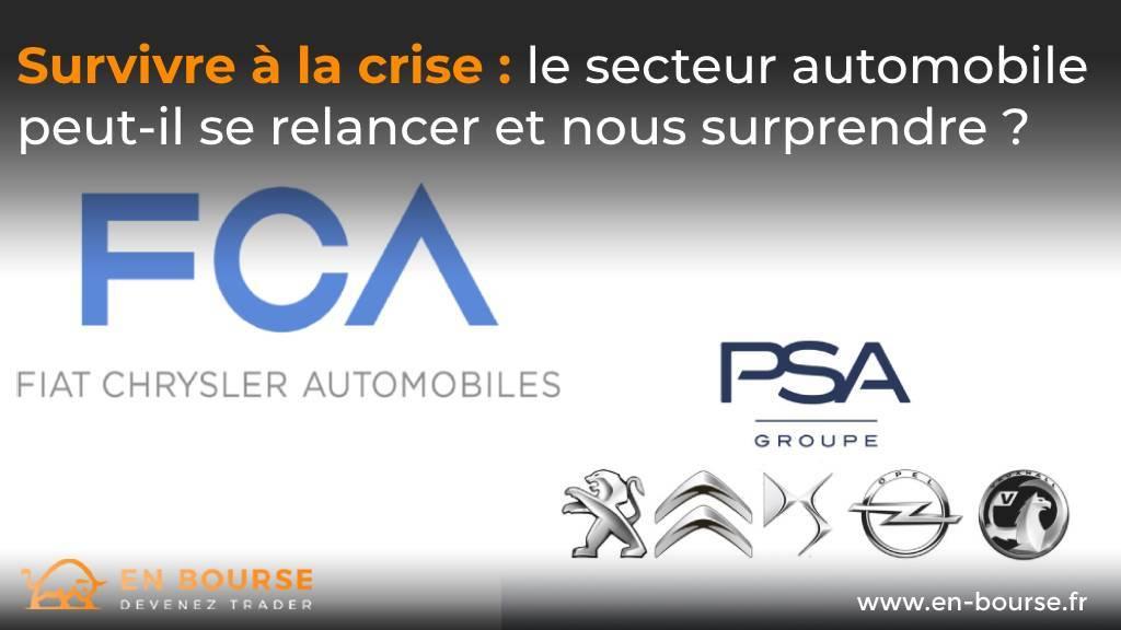 Logo des constructeurs automobiles FCA et PSA