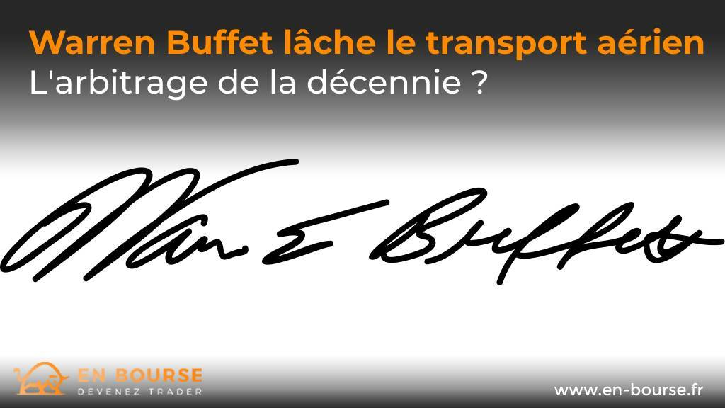 Signature du milliardaire Warren Buffet
