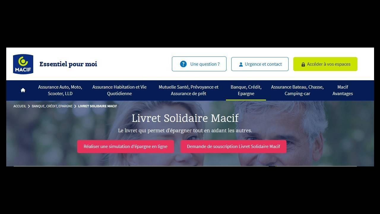 Détail de l'offre de la Macif - Livret solidaire