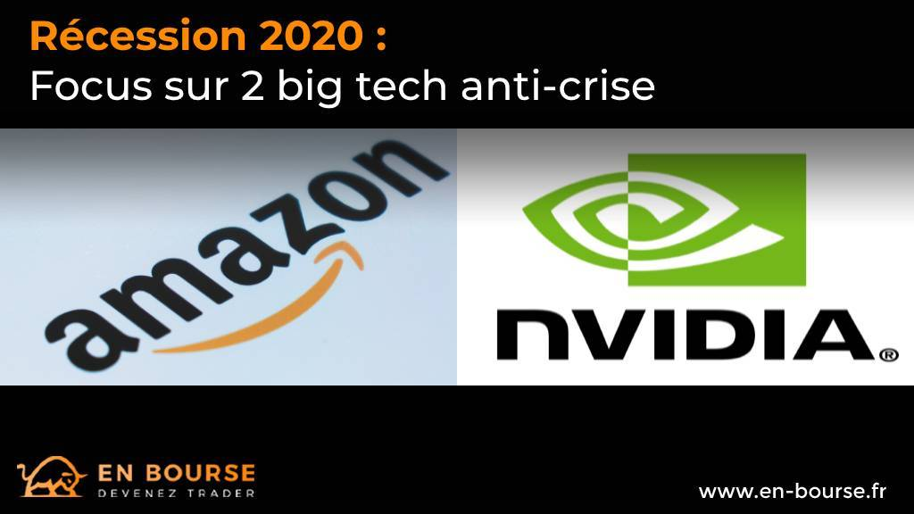 Logos des sociétés US Amazon et Nvidia