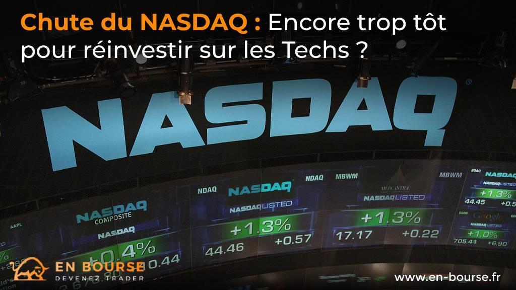 Logo du Nasdaq et écrans muraux
