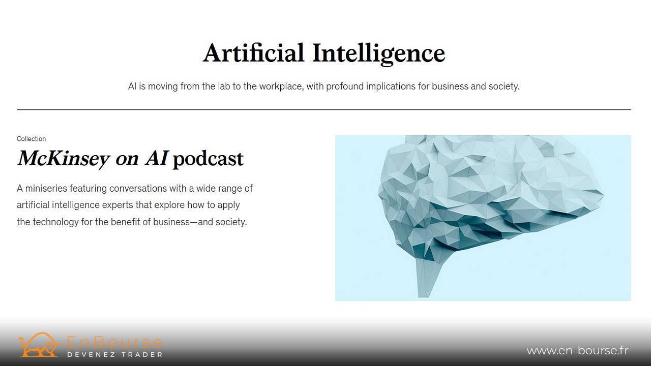 Page internet dédiée à l'intelligence artificielle
