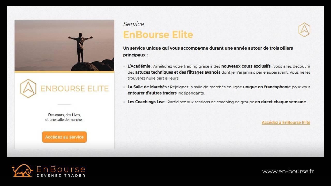 Description du service EnBourse Elite