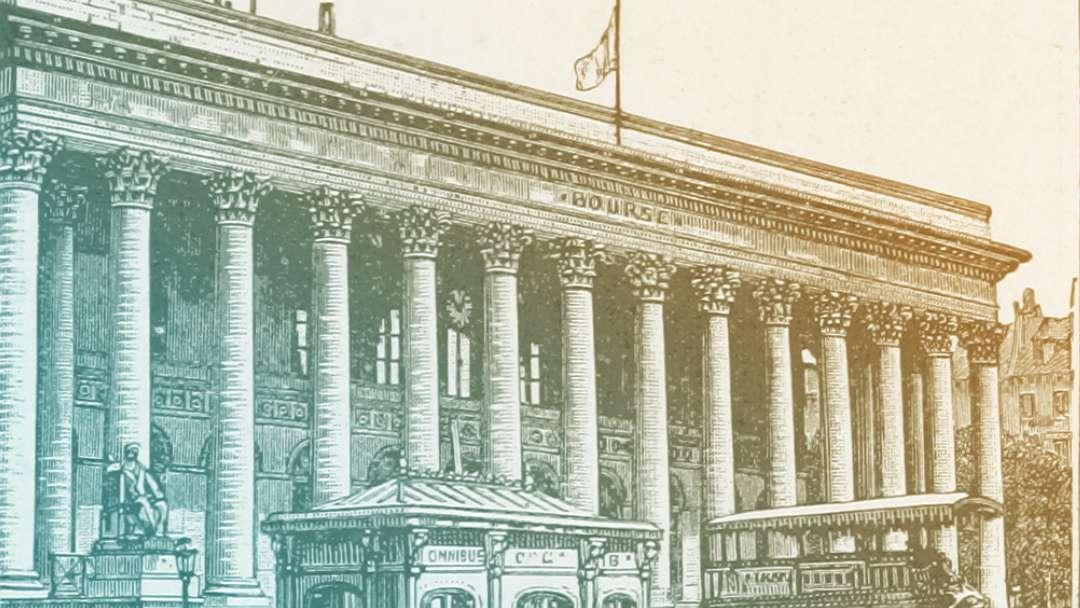 Frontispice de la Bourse de Paris
