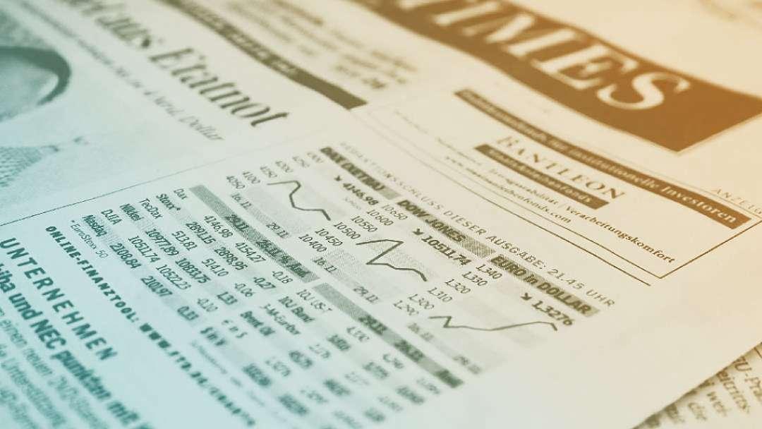 journal présentant des taux