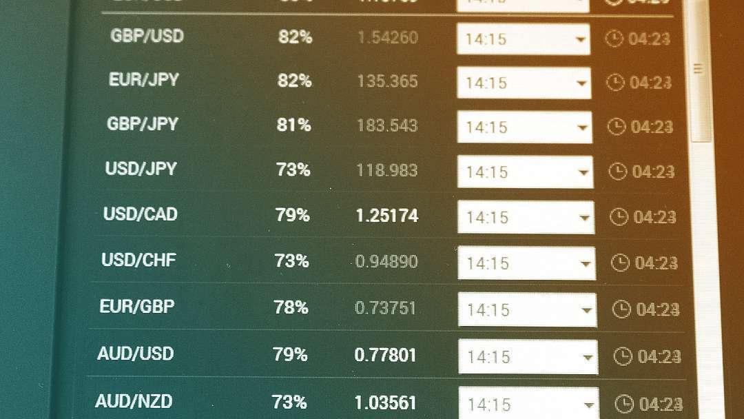 Tableau de change de devises