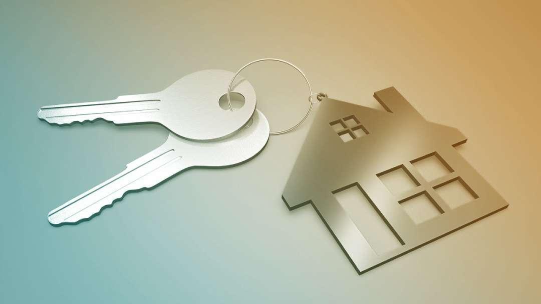 Illustration d'une maison avec les clés