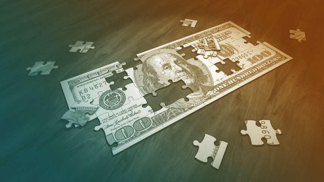 Dollar US façon puzzle
