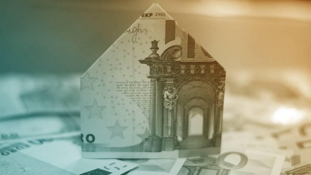 Maison en origami en billet de 500euros