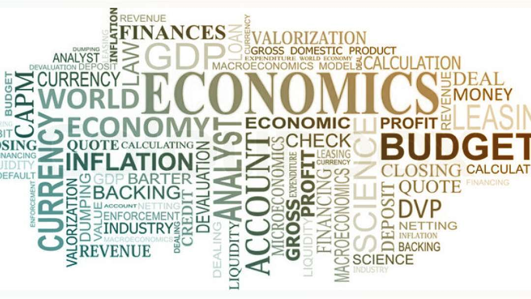 Nuage de mots dans le domaine de l'économie