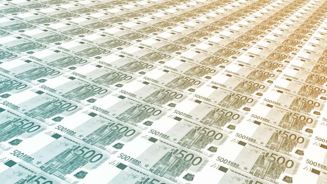 Planche à billets de 500 euros