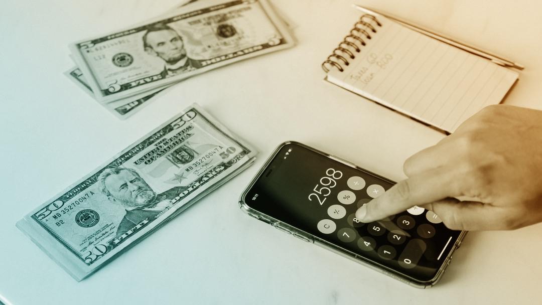 Calculatrice et billets