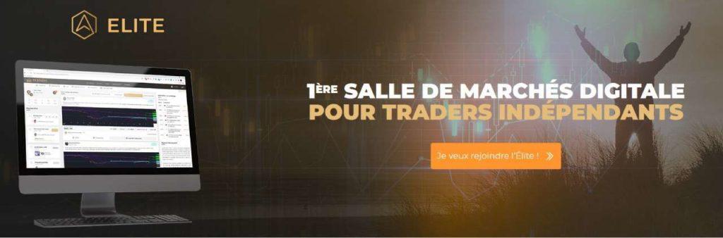 Page de promotion de la 3ème édition d'EnBourse Elite