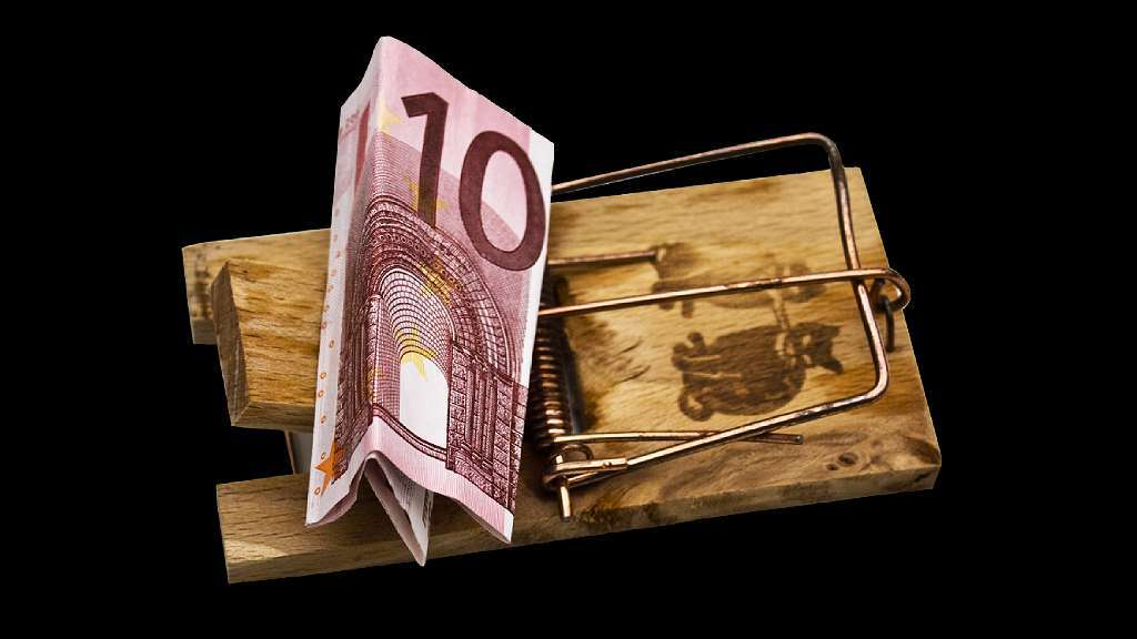 Tapette à souris avec un billet de 10 euros