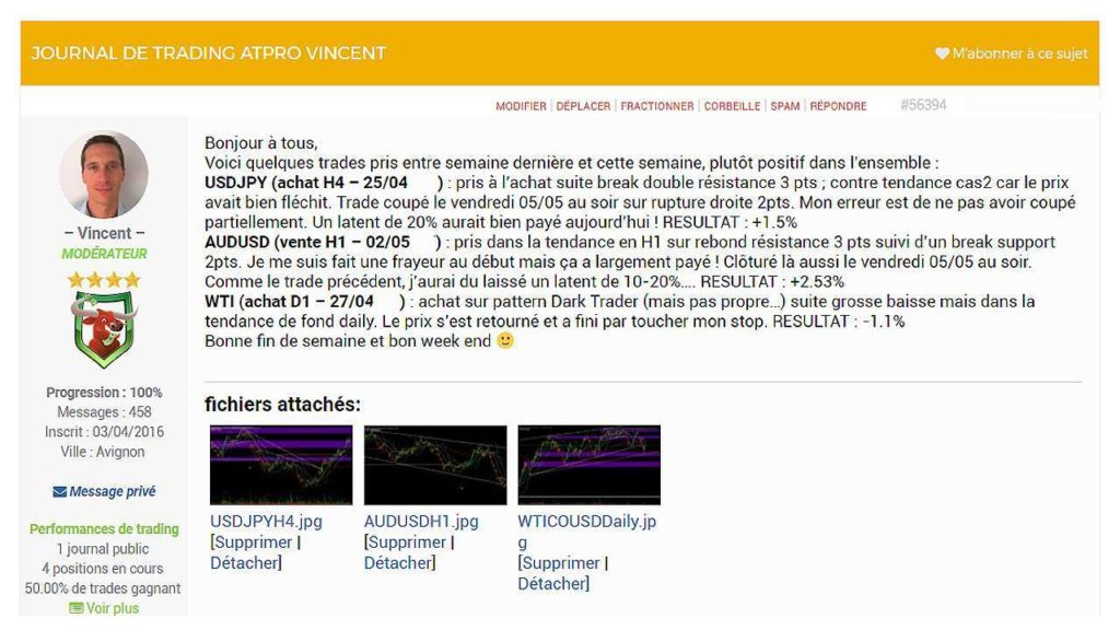 Page du Forum EnBourse de Voncent