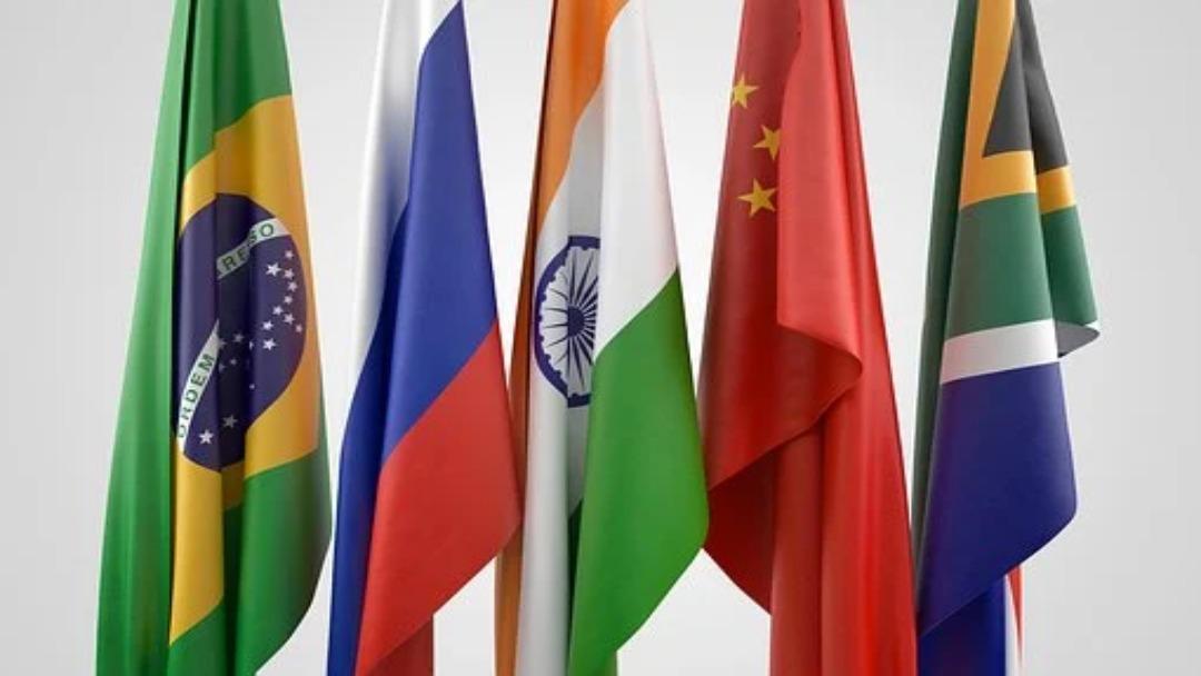 Drapeaux des BRICS émergents