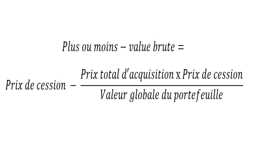 Formule calcul plus value