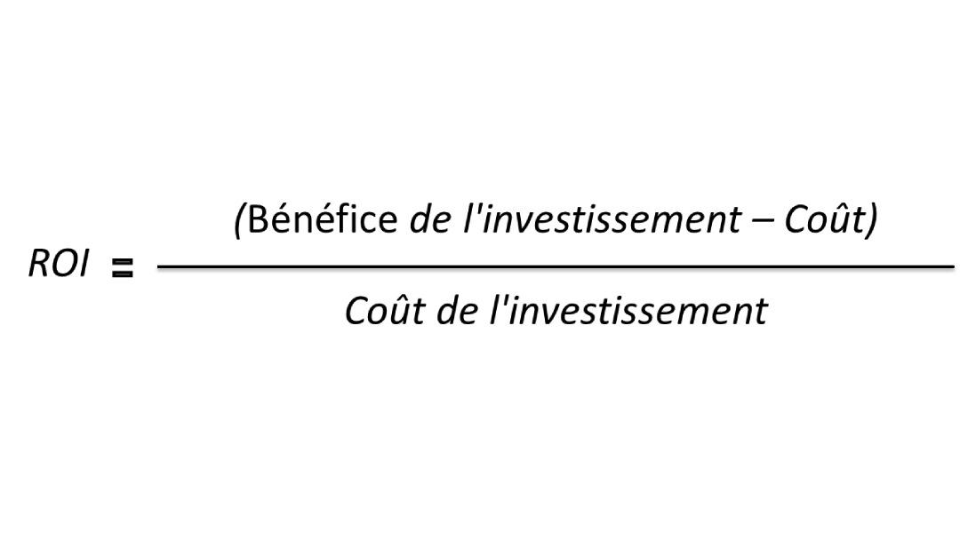 Formule de calcul du ROI