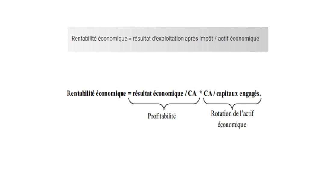 Formule de la rentabilité économique