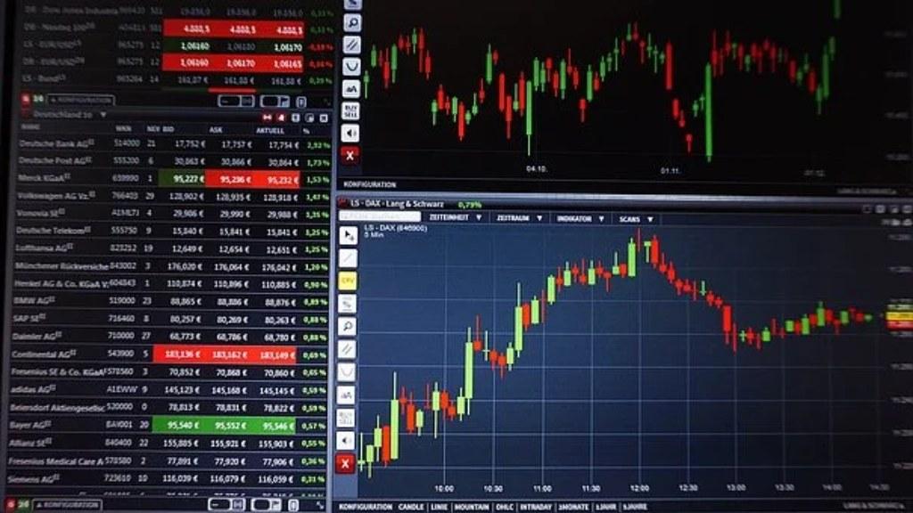 Exemple de plateforme de trading avec graphiques